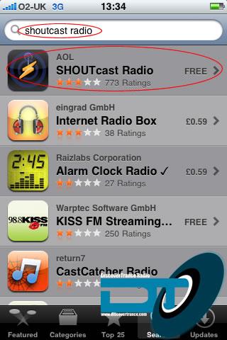 step 1: app store